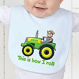 Tractor Time Baby Bib