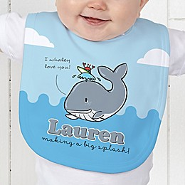 Lovable Whale Baby Bib