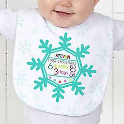 Baby's 1st Christmas Baby Bib