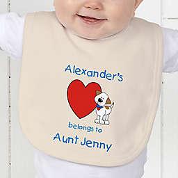 Puppy Heart Belongs Baby Bib
