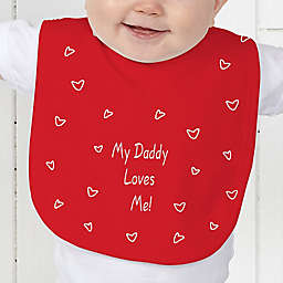 Somebody Loves Me Baby Bib