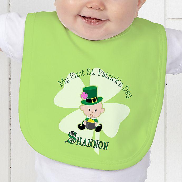 Alternate image 1 for My 1st St. Patrick's Day Baby Bib
