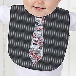 Dressed For Success Birth Info Baby Bib