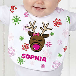 Christmas Reindeer Baby Bib
