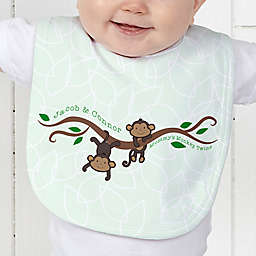 Two Little Monkeys Baby Bib