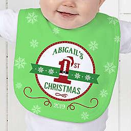 Santa Loves Me Baby Bib