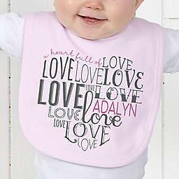 A Heart Full of Love Baby Bib