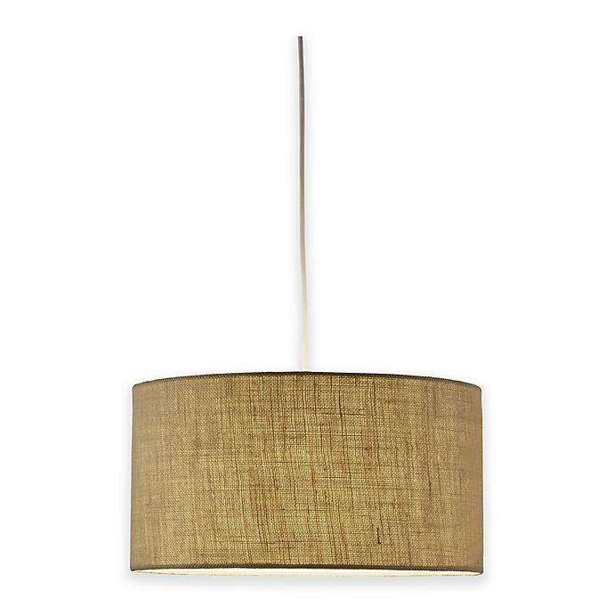 Alternate image 1 for Adesso® Harvest Drum 1-Light Pendant Light