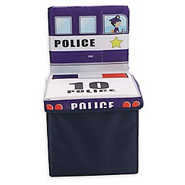 Mind Reader Police Car Kid's Storage Stool/Chair