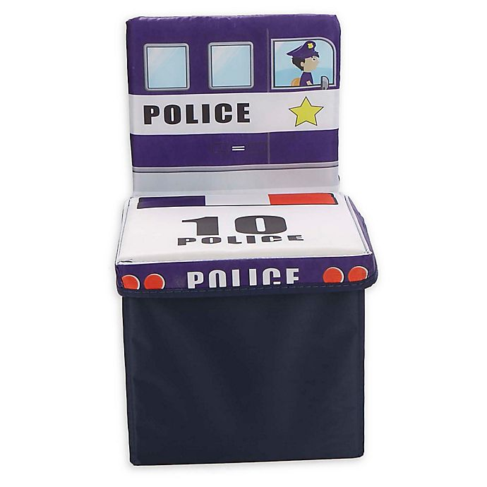Alternate image 1 for Mind Reader Police Car Kid's Storage Stool/Chair