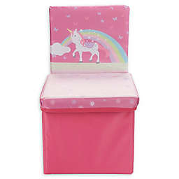 Mind Reader Cartoon Unicorn Kid's Storage Stool/Chair