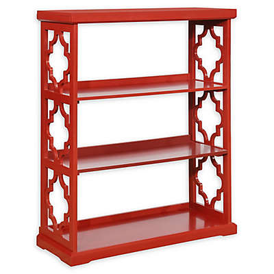 Powell Conrad Medium Bookcase in Red