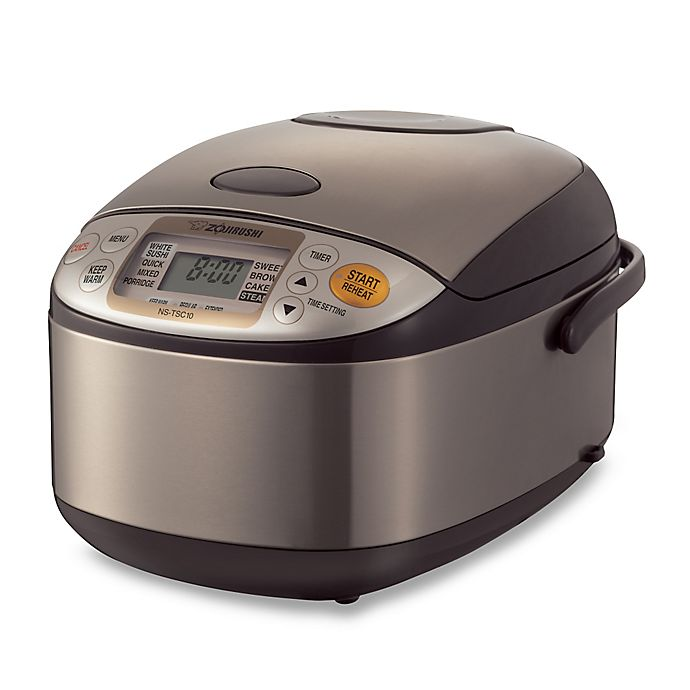 Alternate image 1 for Zojirushi 5-1/2 Cup Micom Rice Cooker and Warmer in Stainless Steel
