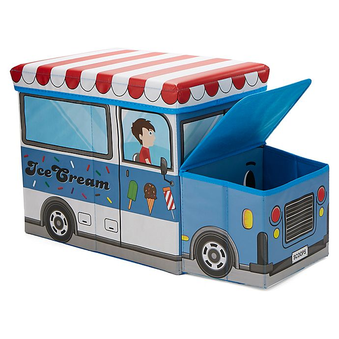 Alternate image 1 for Mind Reader Ice Cream Truck Kid's Stool/Chair Toy Box