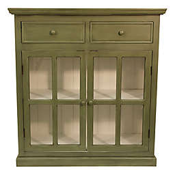 Décor Therapy Layla Glass Door Accent Cabinet