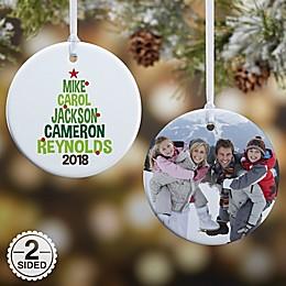 Christmas Family Tree 2-Sided Glossy Christmas Ornament