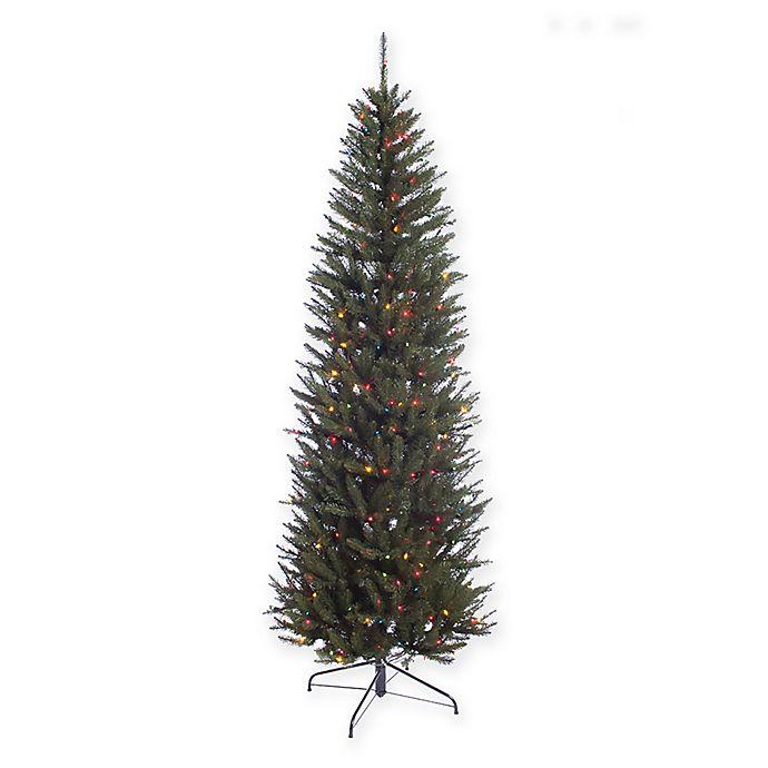 Fraser Fir Christmas Trees: Puleo International 7.5-Foot Pre-Lit Pencil Fraser Fir