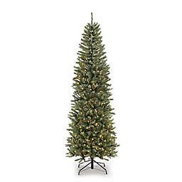 Puleo International Pre-Lit Pencil Fraser Fir Christmas Tree