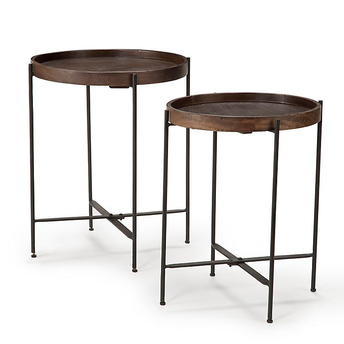 Steve Silver Co Capri Wooden Round, Round Accent Tables
