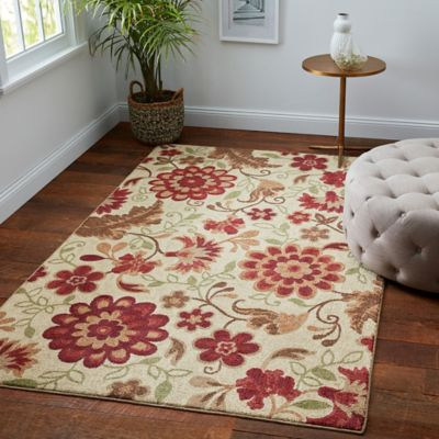 Harper Floral Rug In Beige Bed Bath And Beyond Canada