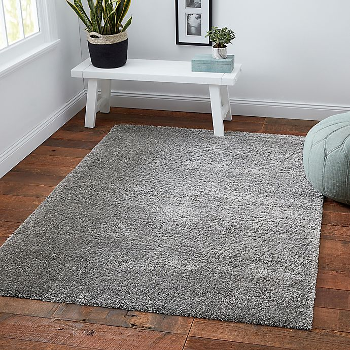 Alternate image 1 for Norway Shag 6'6 x 9' Area Rug in Grey