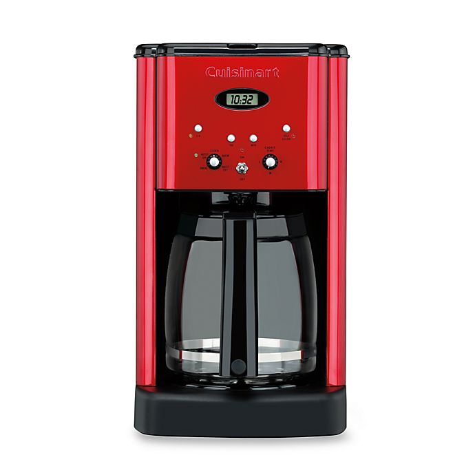 Alternate image 1 for Cuisinart® Brew Central™12-Cup Programmable Coffee Maker in Metallic Red