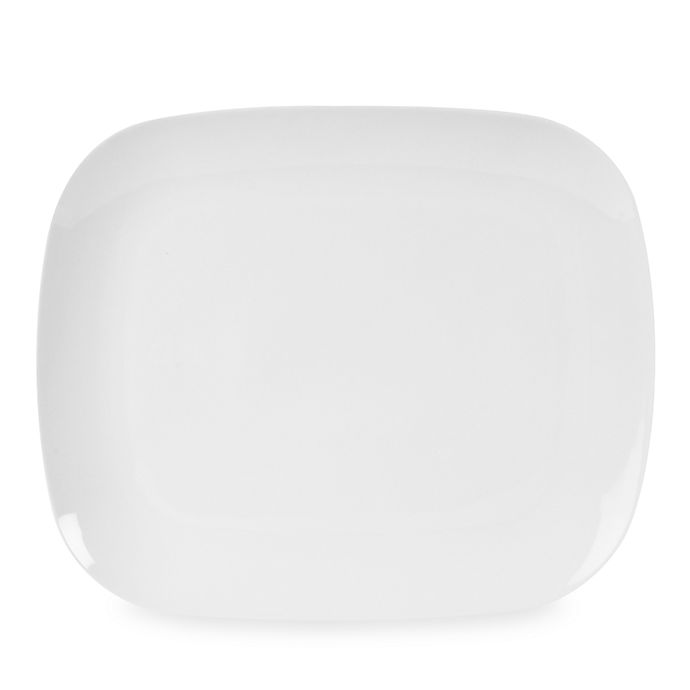 Alternate image 1 for Everyday White® by Fitz and Floyd® 11-Inch x 9 1/4-Inch Rounded Rectangle Platter