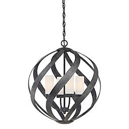 Quoizel Blacksmith Pendant Light Collection in Old Black