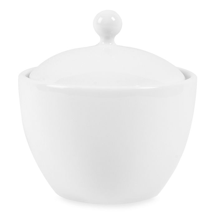 Alternate image 1 for Everyday White® by Fitz and Floyd® Covered Sugar Bowl
