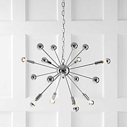 "JONATHAN Y 8-Light 22.5"" Metal Sputnik LED Chandelier in Chrome"