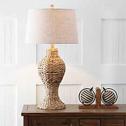 """JONATHAN Y Elicia 31"""" Seagrass Weave LED Table Lamp in Natural"""
