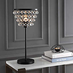 "JONATHAN Y 25"" Crystal/Metal Table Lamp"