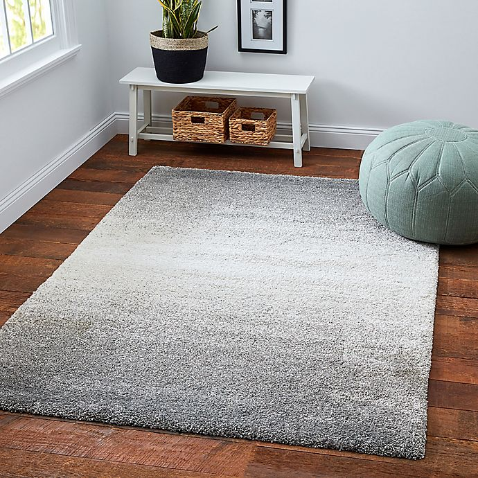 Alternate image 1 for Moonlight Ombre Shag Area Rug in Grey