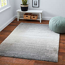 Moonlight Ombre Shag Area Rug in Grey