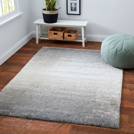 Moonlight Ombre Shag Area Rug In Grey Bed Bath Amp Beyond