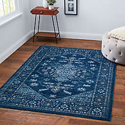 Chelsea Border Rug in Blue