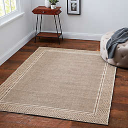 Desert Sand 6' x 9' Indoor/Outdoor Area Rug in Tan