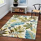 Blue Grass 5-Foot x 7-Foot Area Indoor/Outdoor Rug in Ivory/Multi