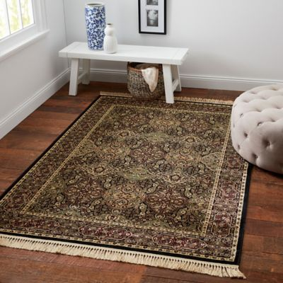 Verona Accent Rug In Black Bed Bath Amp Beyond