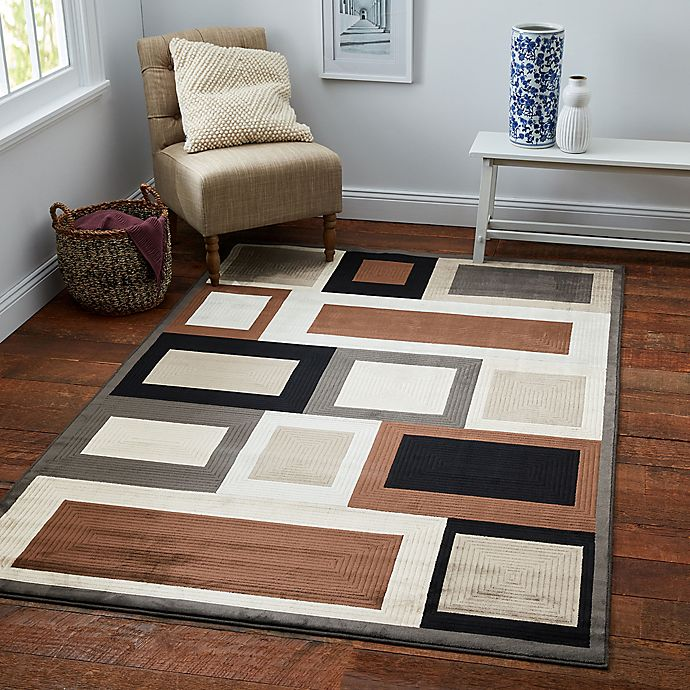 Alternate image 1 for Verona Ice Grey 8-Foot x 11-Foot Rug in Grey/Brown