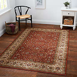 Verona Persian Viscose Area Rug in Rust