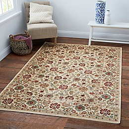 Verona Suzani 3'3 x 4'7 Accent Rug in Ivory/Blue