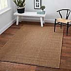 Cabana Bay Kensey 5-Foot 3 -Inch x 7-Foot 6-Inch Indoor/Outdoor Area Rug in Brown