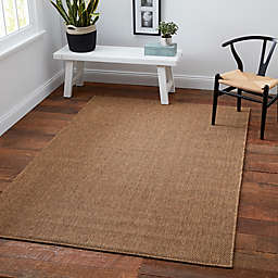 Cabana Bay Kensey 2'5 x 3'9 Indoor/Outdoor Accent Rug in Brown
