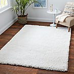 Carpet Art Deco Supreme 5'3  x 7'5  Microfiber Shag Area Rug in Natural