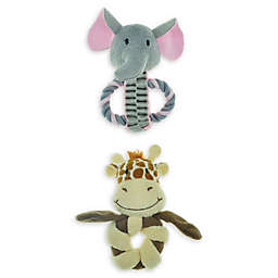 Bounce & Pounce Mini Safari Dog Toys (Set of 2)