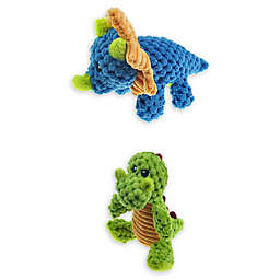 Bounce & Pounce Mini Dino Dog Toys (Set of 2)
