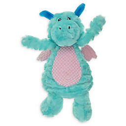 Bounce & Pounce Plush Dragon Dog Toy in Blue/Purple