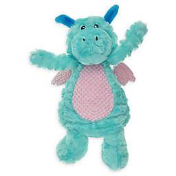 Bounce & Pounce Plush Dragon Dog Toy in Blue/Purple