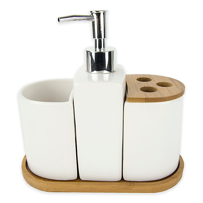 Bamboo Accent 4 Piece Bath Set Bed